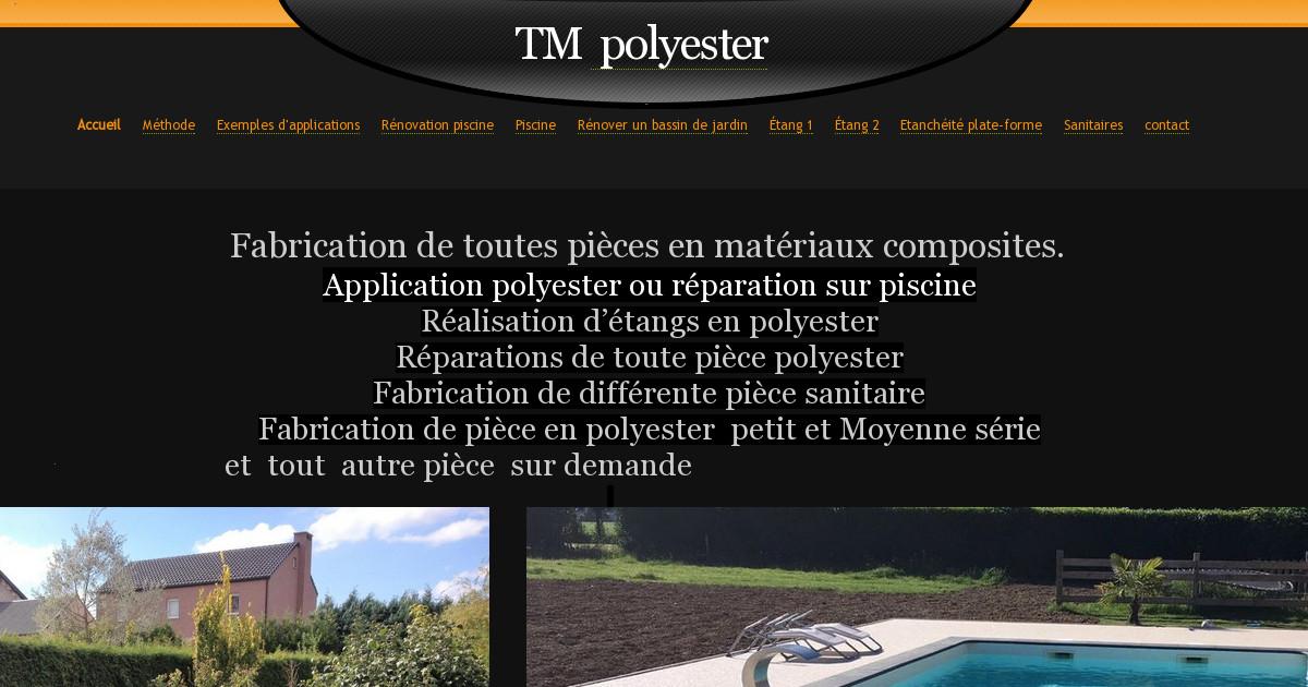 TM Polyester piscine et étang - contact